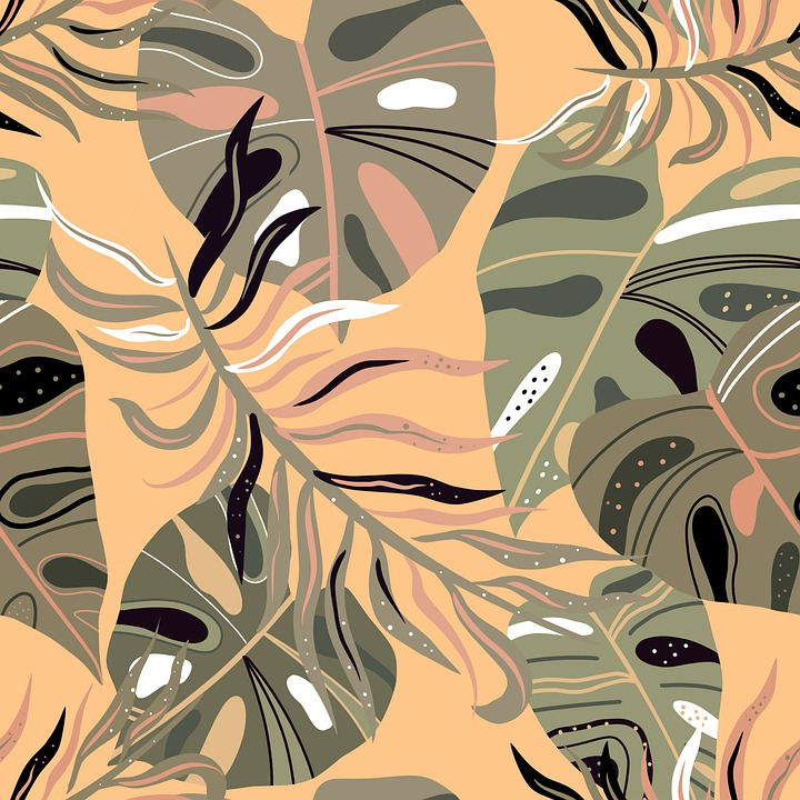 Monstera, Picture, Stamping, Pattern, Texture, Design