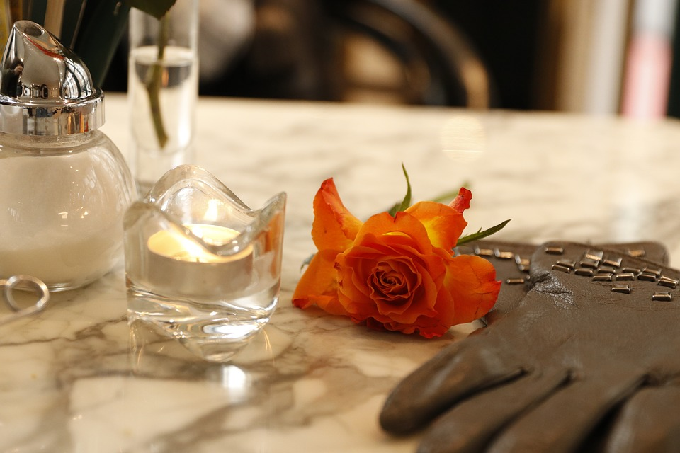 Restaurant, Gloves, Rose, Meeting, Stand By