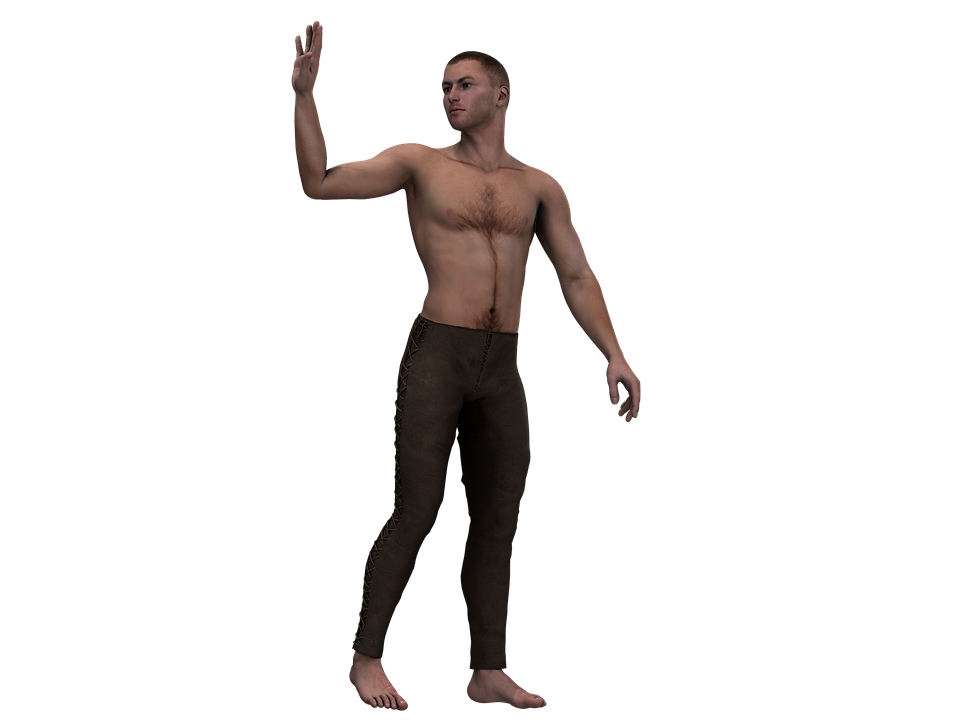 Man, Male, Person, Figure, Stand, Digital Art, Isolated