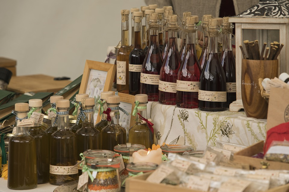 Wine, Honey Wine, Middle Ages, Stand, Sale
