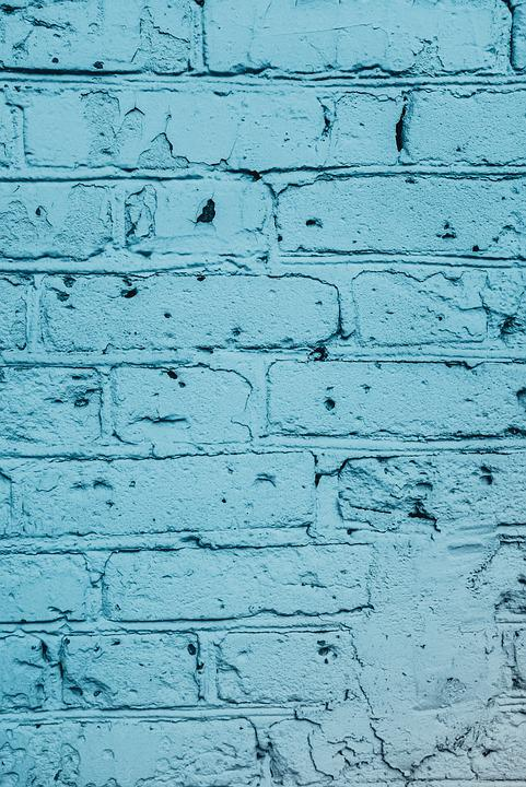 Wall, Blue, House, Real Estate, Standing, Texture
