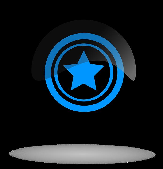 Star, Star Button, Star Black Button, Button, Icon
