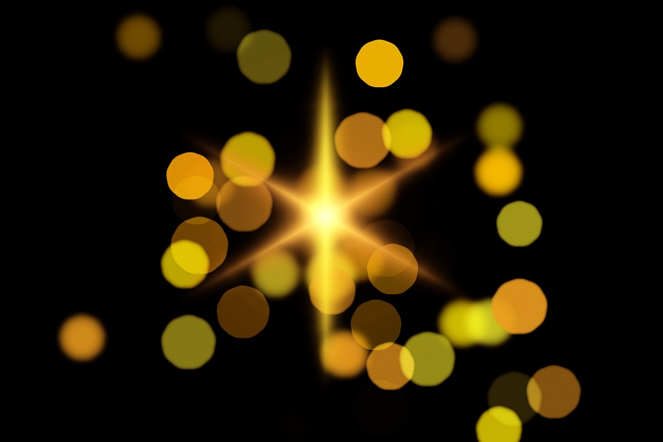 Bokeh, Star, Christmas, Christmas Time, Advent, Light
