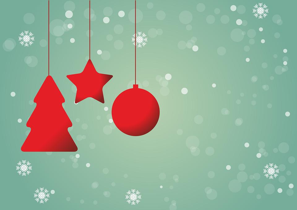 Christmas, Red, Star, Christmas Ornament