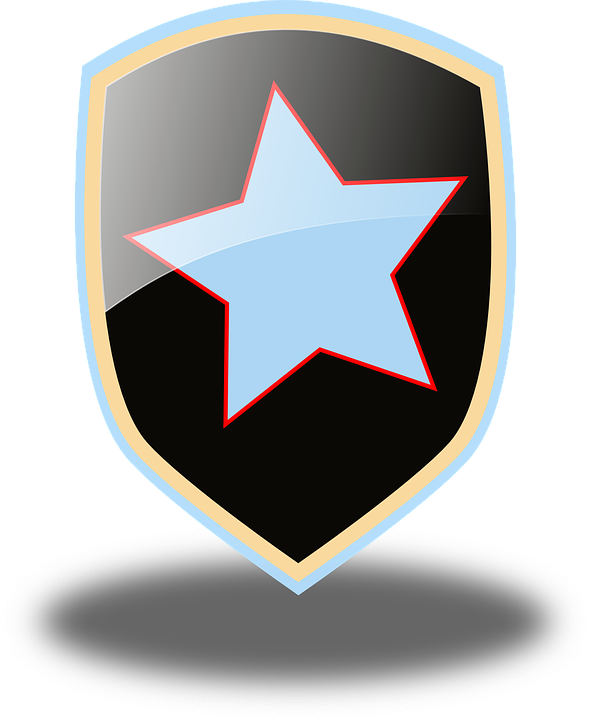 Glossy, Shield, Star, Protection, Security