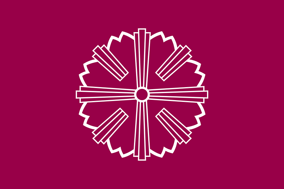 Flag, Star, Round, Japan, Yamagata, Japanese, Asian