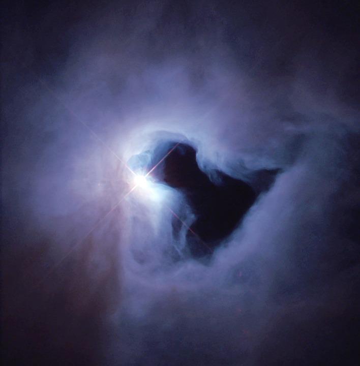 Star, Black Hole, Fog, Ngc 1999, Nasa