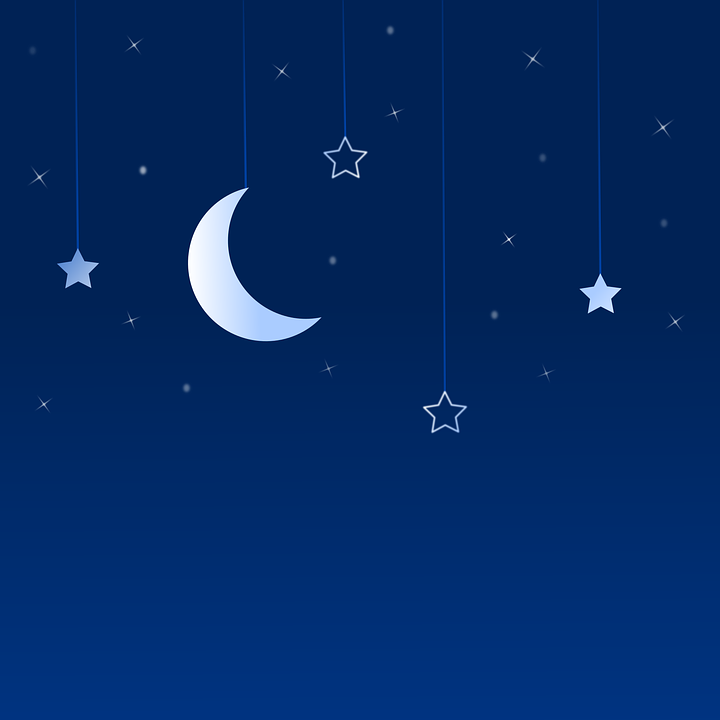 Night, Moon, Star, Background