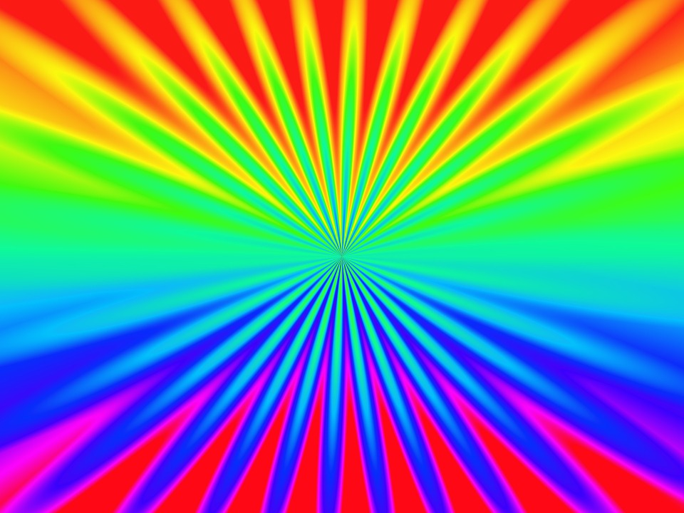 Rainbow, Colour, Star, Pattern, Colourful