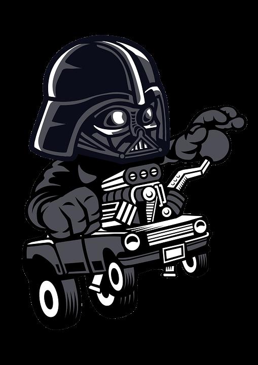 Darth Vader, Car, Cartoon, Character, Star Wars
