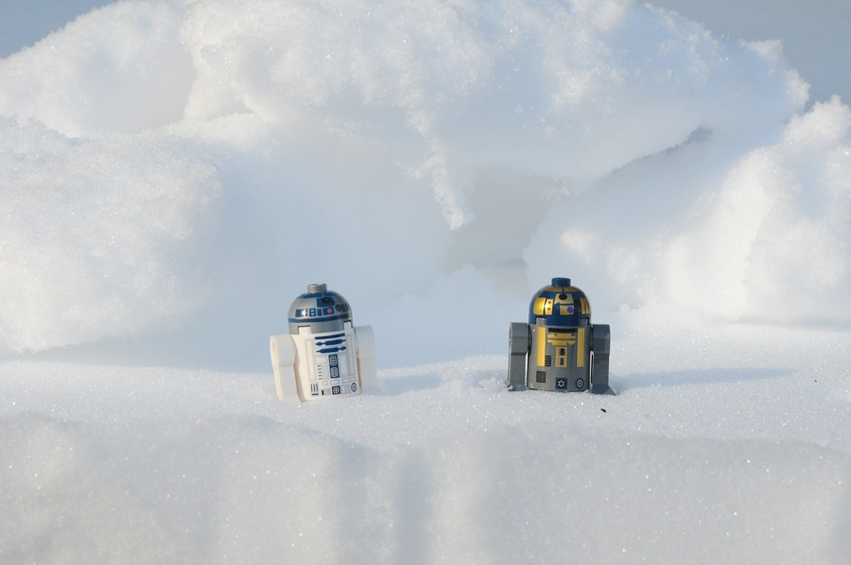 Lego, Snow Drift, Star Wars, Robot, R2 D2