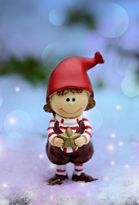 Figurine, Elf, Winter, Snow, Star, Cute
