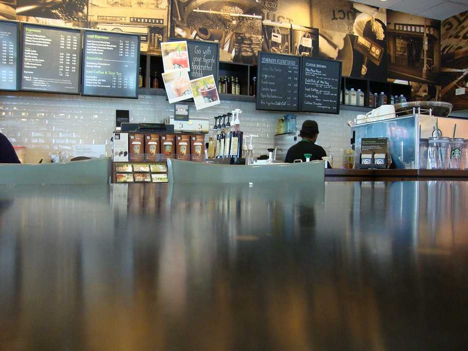 Cafe, Starbucks, Coffee, Restaurant, Counter, Diner