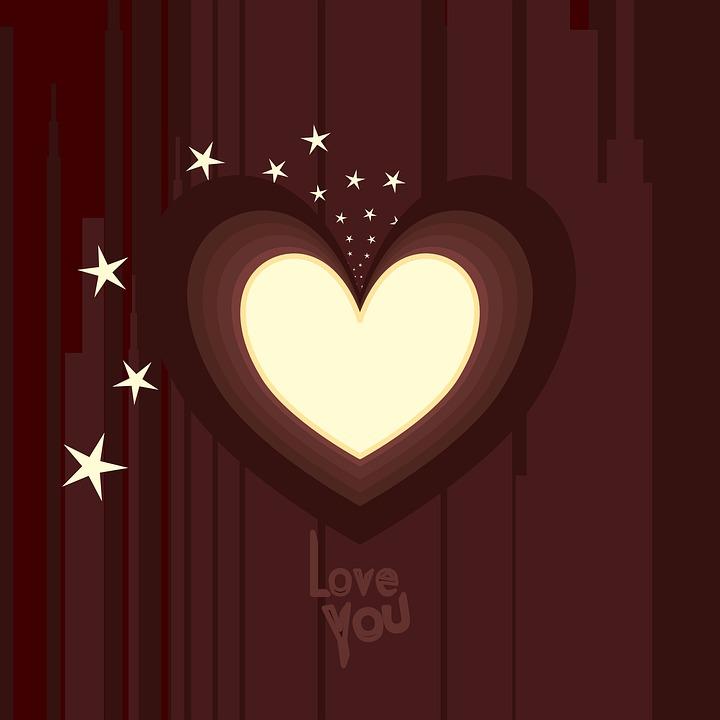 Heart Shape Frame, Starry Light Glow