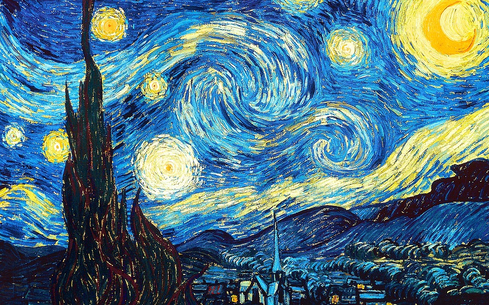 Starry Night, Vincent Van Gough, Painting, Night, Sky
