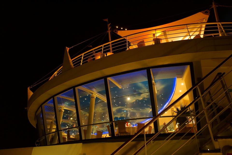 Cruise, Night, Starry Sky, Night Sky, Lights, Deck