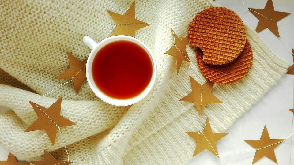 Tea, Drinks, Wafer, Dessert, Sweet, Food, Stars