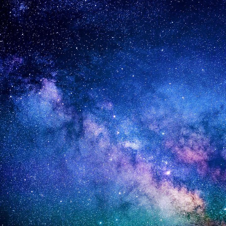 Sky, Galaxy, Stars, Blue