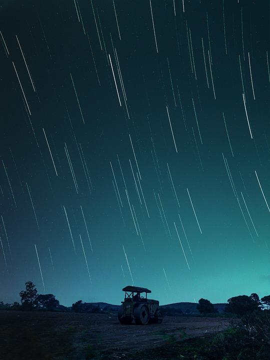 Star, Startrail, Night, Exposure, Landscape, Stary