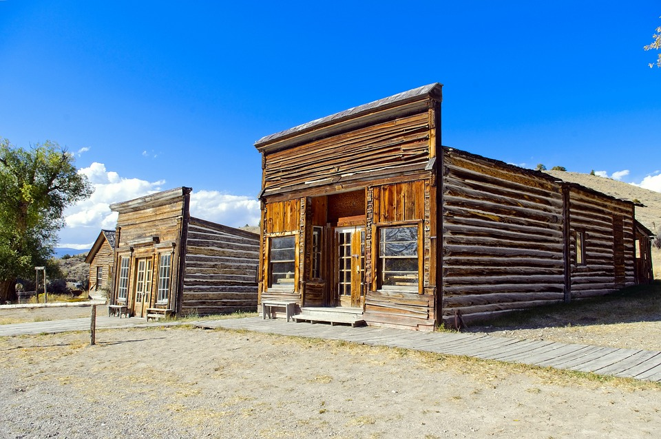 Assay Office And City Drug, Bannack, State, Park, Ghost