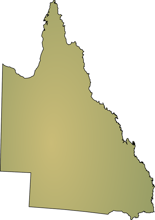 Australia, Map, Queensland, State, Geography