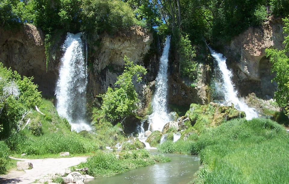 Rifle Falls, Waterfall, Western Colorado, State Park