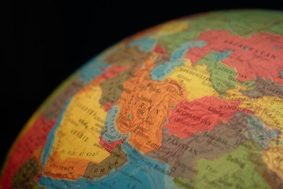 Globe, Country, Iran, Map, Asia, State, States