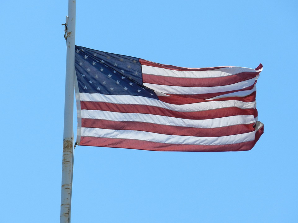 Flag, Red, White, Blue, Us, American, United, States