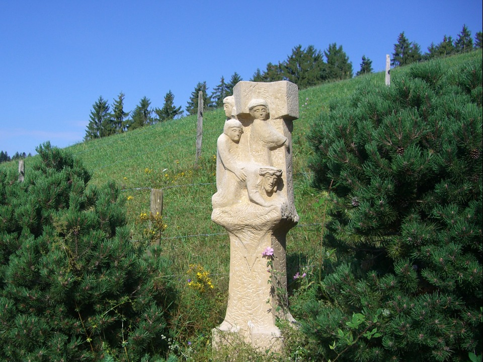 Way Of The Cross, Station 5, Sculpture, Stone, Chiseled