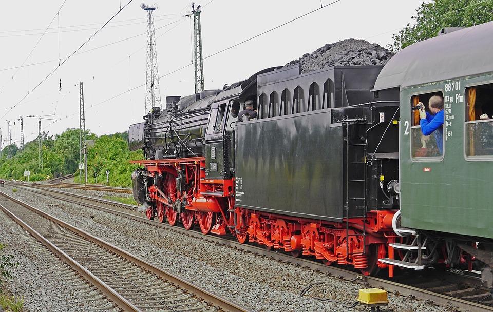Steam Locomotive, Departure, Acceleration, Station Exit