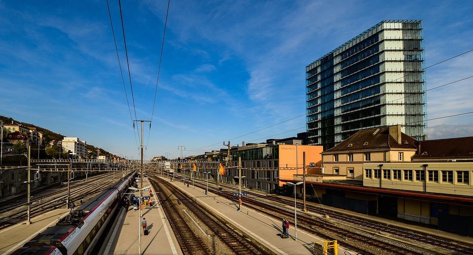 Station, Train, Transport, Pathways, Federal Railways