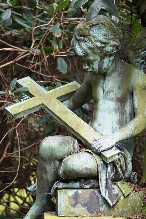 Angel, Tombstone, Statue, Cemetery, Figure, Sculpture
