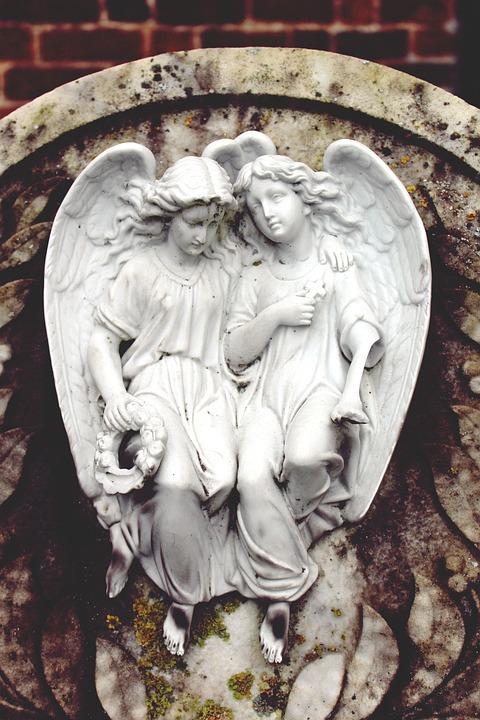 Angel, Statue, Figure, Woman, Female, Pray, Faith