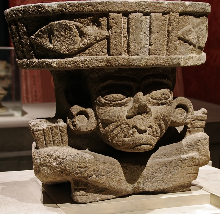 Mexico, Anthropological Museum, Statue, Columbian