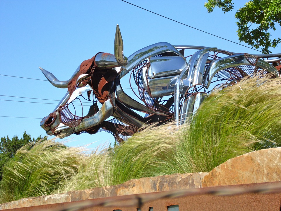 Texas, Longhorn, Metal Art, Sculpture, Statue, Artwork