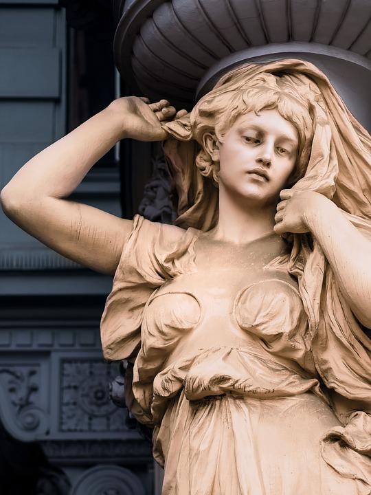 Statue, Architecture, Facade, House, Vienna, Austria