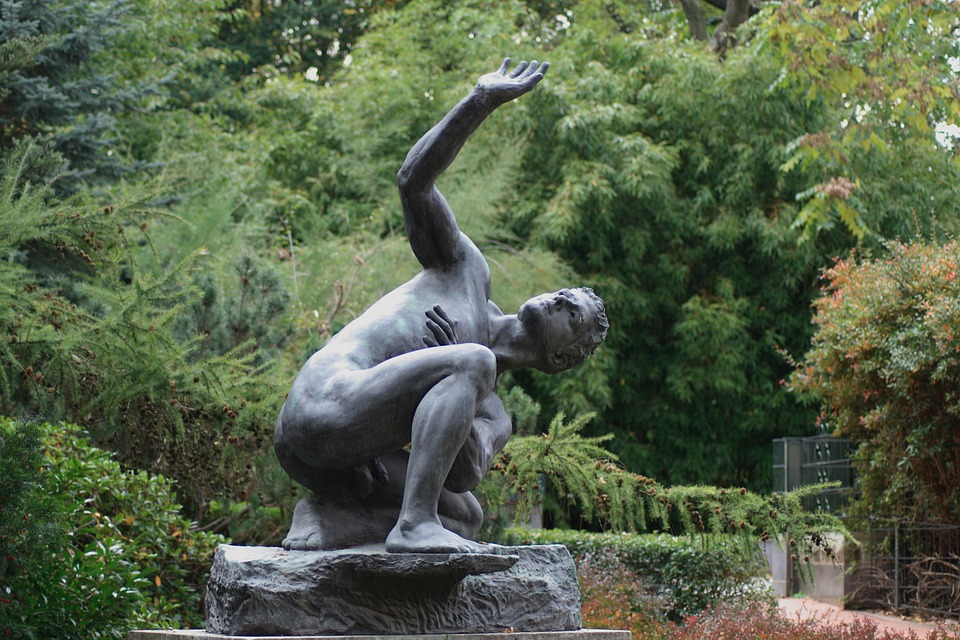 Statue, Fig, Bronze