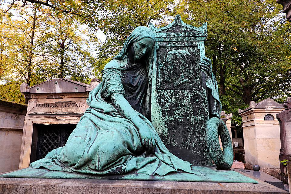 Statue, Sculpture, Bronze, Gray-green, Patina