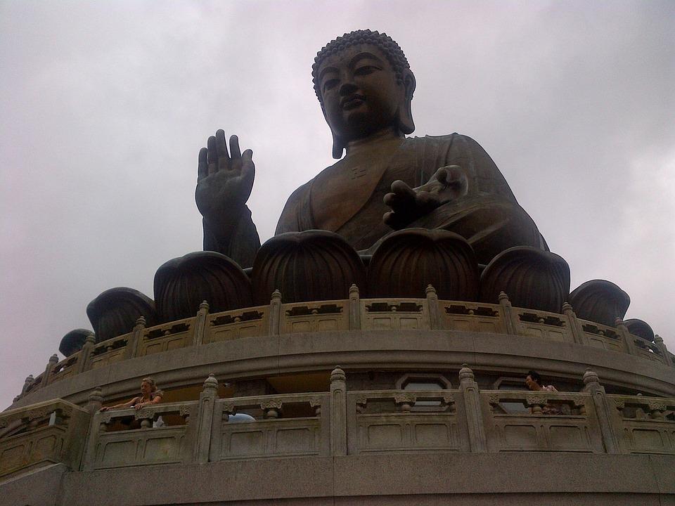 Buddha, Statue, Hong Kong, Asian