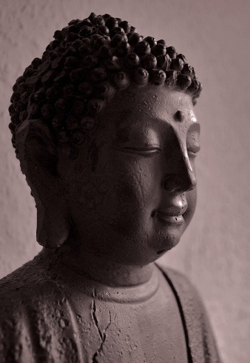 Buddha, Statue, Bust, Half Profile, Sculpture, Buddhism