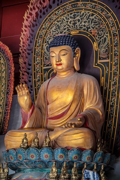 Statue, Image, Gold, Buddha, Faith, Religion, Images