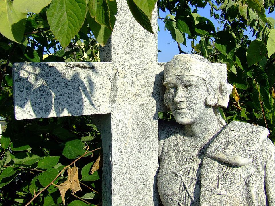 Calvary Cemetery, Baja, Sculpture, Statue, Cross