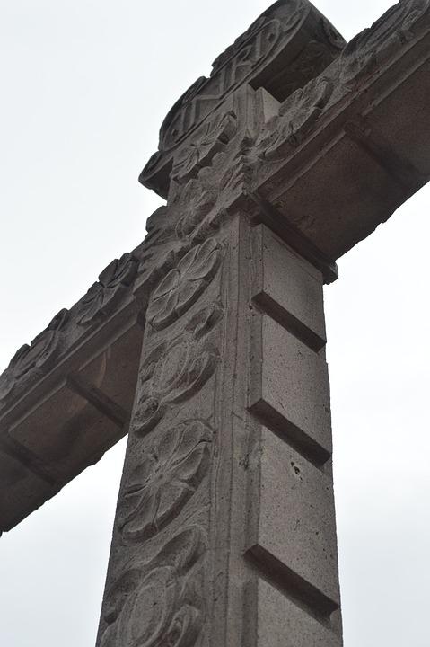 Statue, Cruz, Church