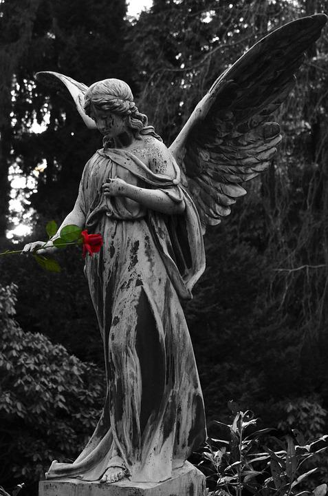 Angel, Statue, Sculpture, Cemetery, Monument, Faith