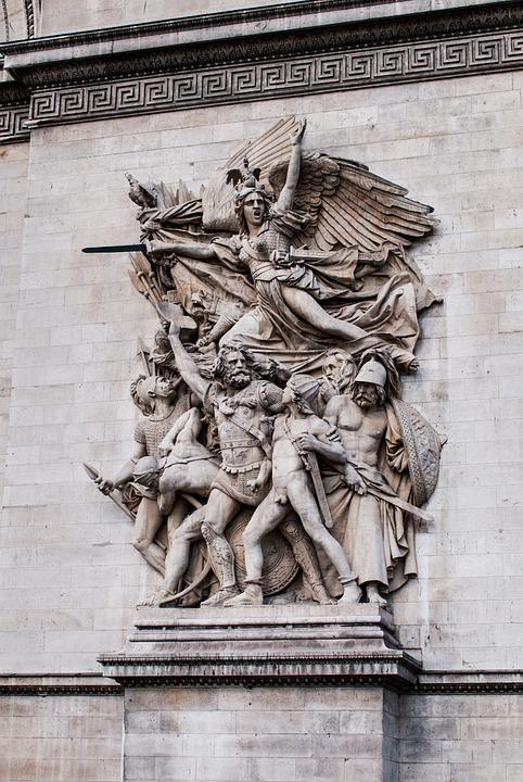 Arch Of Triumph, Paris, France, Statue