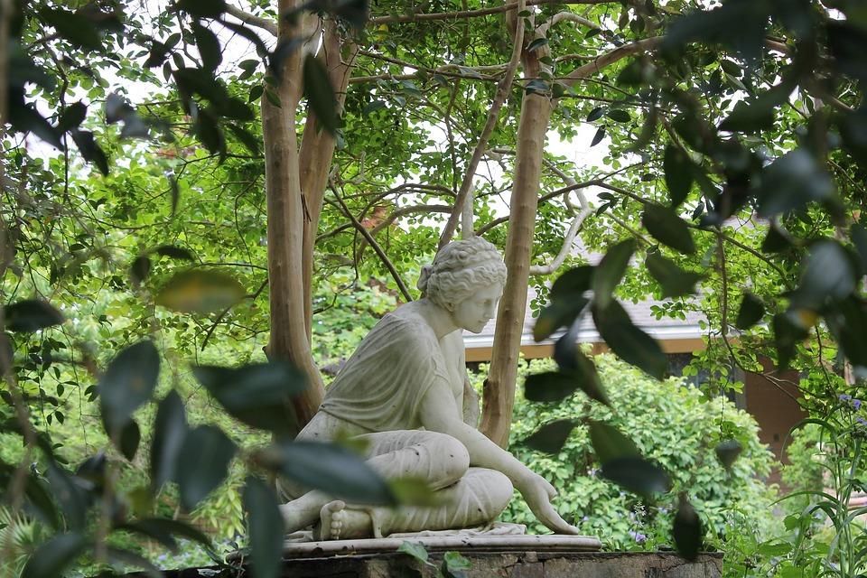 Statue, Greek, Garden, Nature, Outdoor, Park, Sculpture