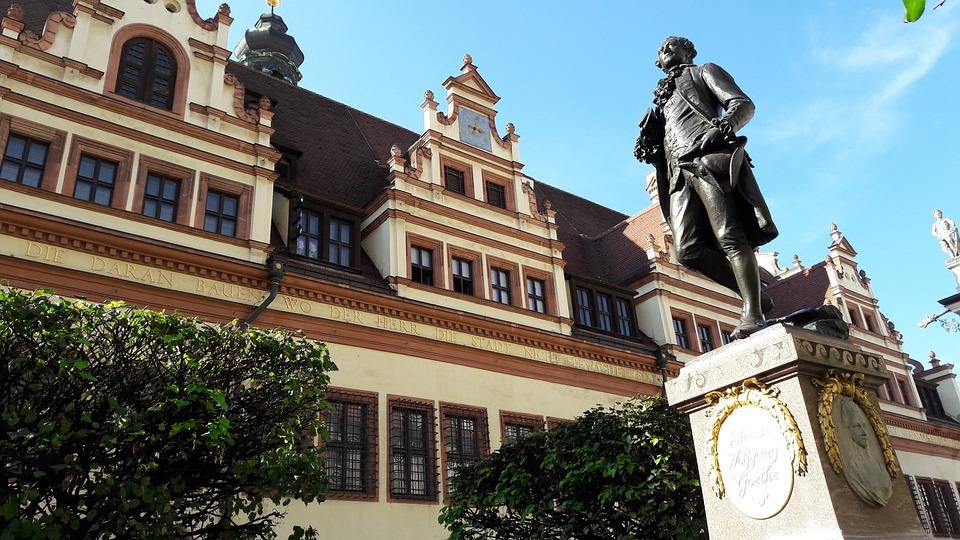 Leipzig, Goethe, Monument, Statue, Goethe Monument