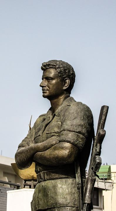 Cyprus, Paralimni, Statue, Hero, Soldier, Independence