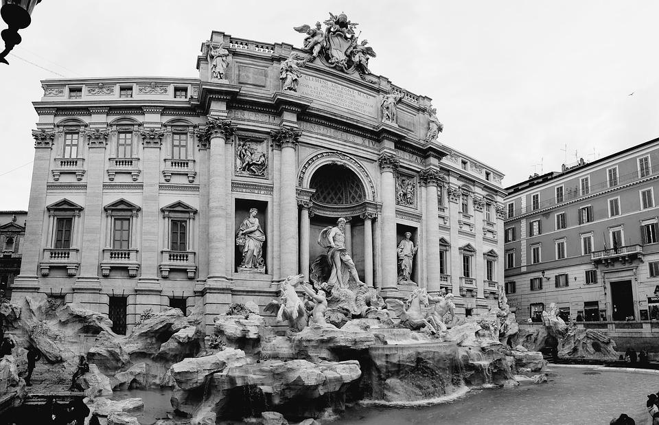 Anna Norman, Fountain, Roma, Italy, Statue, Trevi