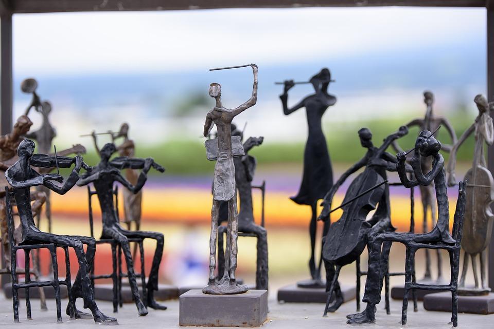 Orchestra, Statue, Sculpture, Landmark, Garden, Tourism